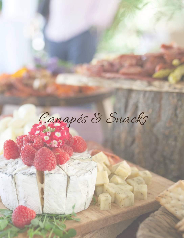 Canapés & Snacks Menu