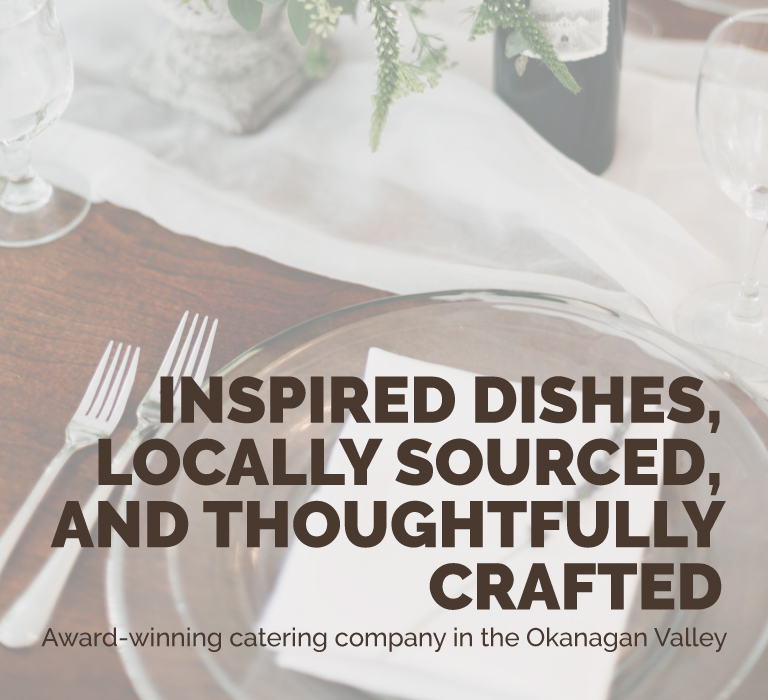 Inspired dishes, locally sourced - Banner 2