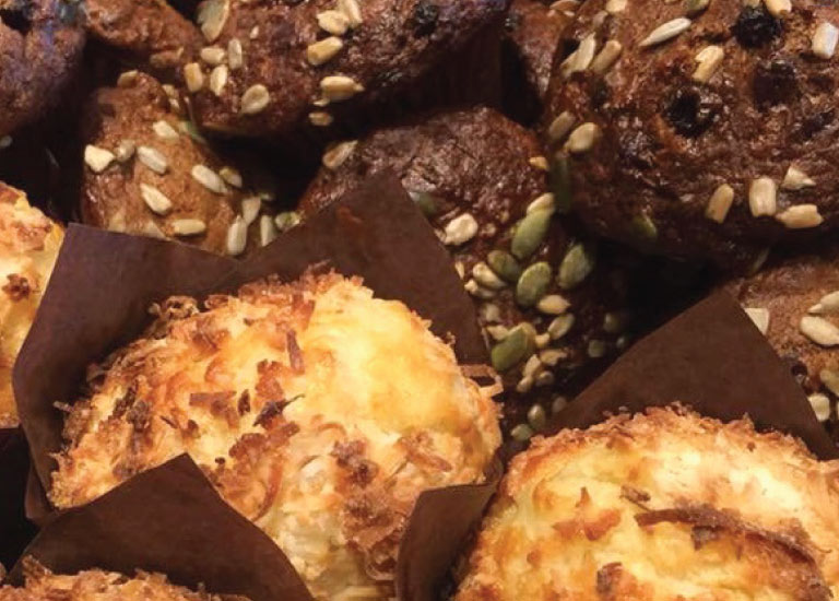 Muffins and baked goods from the Gumtree wholesale catering selection